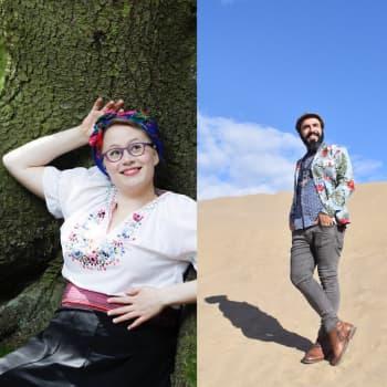 Juontajina muusikko Marouf Majidi ja muusikko-toimittaja Amanda Kauranne.
