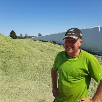 Lagom är smalt för oss bönder säger bonden Mats Enqvist om torkan
