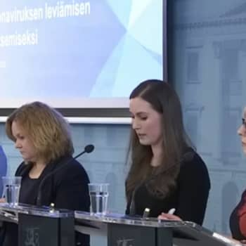 Hallituksen tiedotustilaisuus koronavirustilanteesta 12.3.2020