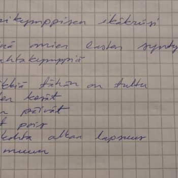 Parikymppisen ikäkriisi runoksi puettuna — aikaa vain puoli tuntia ja apuna Runeberg -palkittu kirjailija