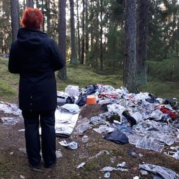 Eija Rouvali etsii vapaa-ajallaan kodittomia Turun metsistä