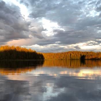 Kesäyö kanootissa