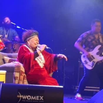 Harmonikkataiteilija Teija Niku yllättyy iloisesti kun kuulee noususta marraskuun World Music Chart Europe -listalle