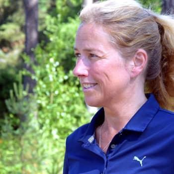 Margaretha Schrey berättar om sitt arbete inom hemvården i Raseborg