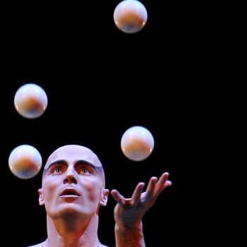 Jongleeraus on yksi sirkustaiteen vanhimpia muotoja