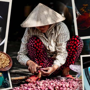 Hymyjä ja mausteita Thaimaassa