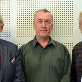 Viaton viisikymmentäluku -ohjelmasarjan toimittajat Lasse Lehtinen ja Seppo Hovi