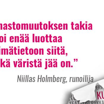 Kultakuume: Runoilija Niillas Holmberg ilmastomuutoksen vaikutuksista