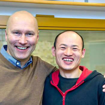 Vieraina Mika Koskinen ja Liutao Gao.