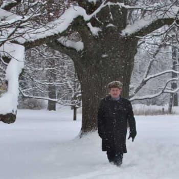 Luontoretki.: Talvisia tammia Espoon Träskändassa 29.1.2012