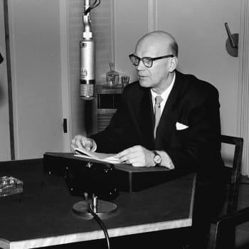 Presidentti Kekkosen puhe radiossa yöpakkasten alettua (1958)