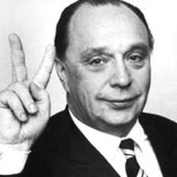 Presidenttiehdokas Veikko Vennamo vaalitentissä (1968)