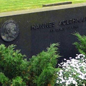 Lentävän suomalaisen Hannes Kolehmaisen haudalla