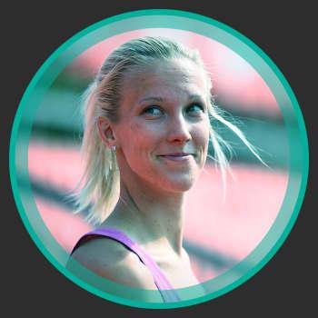 """Långdistanslöparen Camilla Richardsson: """"Jag har aldrig två vilodagar i sträck""""."""