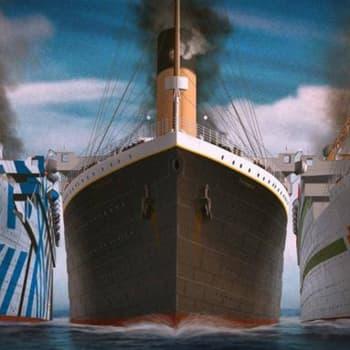De tre osaliga systrarna Titanic, Olympic och Britannic