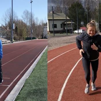Sonja och Mårten sprang var sitt coopertest
