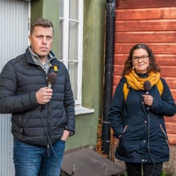 Fredagskaffe med Malin Lönnroth och Robert Jordas: De nyföddas antal i Lindkoski har sjunkit på grund av vårt växthus