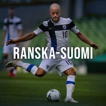 Jalkapallon harjoitusmaaottelu Ranska - Suomi