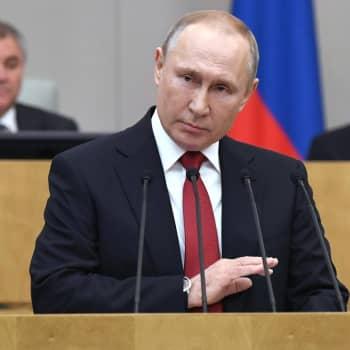 """Pääseekö Vladimir Putin jatkokausille automaattisesti perustuslakia muuttamalla? - """"Putinilla on hyvin laaja kannatus Venäjällä"""""""