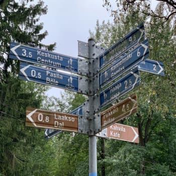 """Fotgängare och cyklister delar på utrymmet i Centralparken - """"Går man här med barn måste man hela tiden vara på sin vakt"""""""