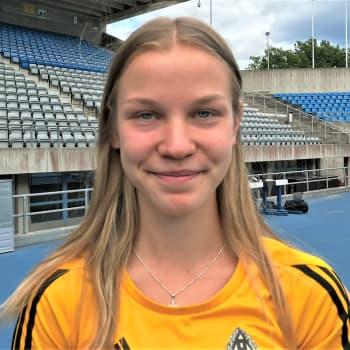 16-vuotias kestävyysjuoksija Ilona Mononen haluaa kesän Kalevan kisoista mitalin