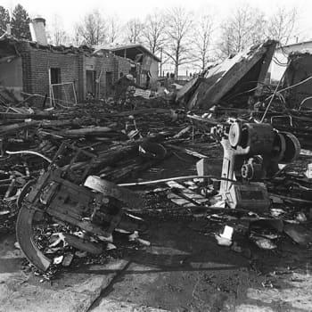 Uutislähetys Lapuan patruunatehtaan räjähdyksestä 13. huhtikuuta 1976