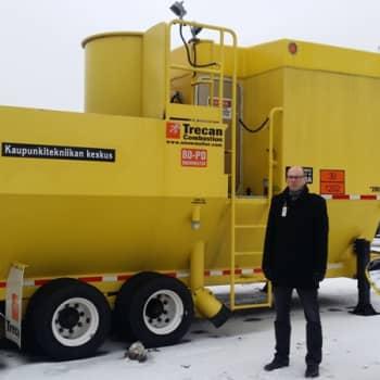 - Förmiddagen i Nyland onsdagen den 25 januari 2017 - Numera har Esbo bara två snöavstjälpningsplatser, av vilka den
