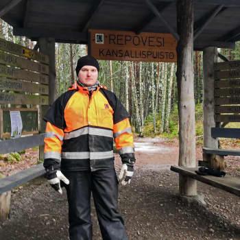 Repoveden kansallispuistossa maaliskuussa