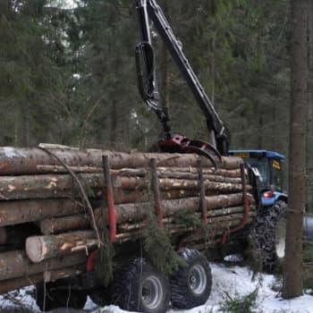 Metsäradio.: Puunajoa metsässä