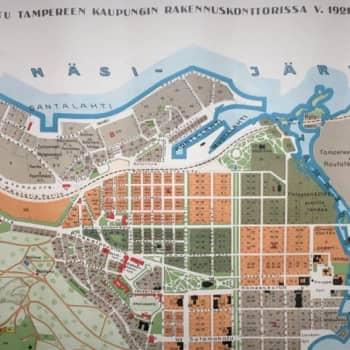 Suo keskellä toria ja hautausmaa kätevästi kaakinpuun vieressä - Tampereesta piirrettiin karttoja jo 1600-luvulla