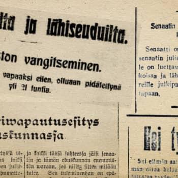 Radio Suomi Tampere: Tällä viikolla sata vuotta sitten -lehtikatsaus viikko 1, 1918