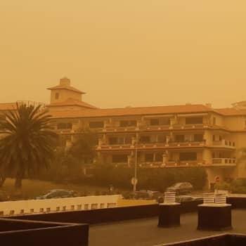 Koronavirus aiheuttaa huolta hiekkamyrskyn runtelemalla Teneriffalla