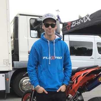 Stunt-ajaja Arttu Stenberg innostui moottoripyöristä jo kaksivuotiaana