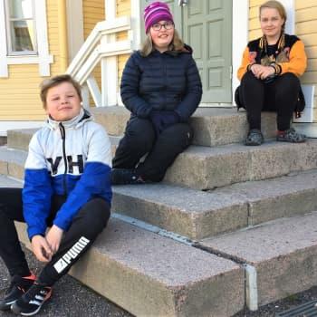 Koululaiset palasivat innoissaan kouluun Lappeenrannassa