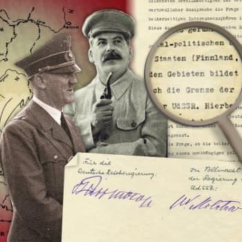 Saksan ja Neuvostoliiton etupiirijako vetää Suomen talvisotaan