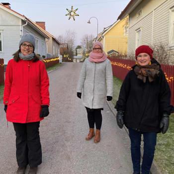 Aktiivinen asukasyhdistys teki yhteisöllisen joulukalenterin omaksi ja muiden iloksi