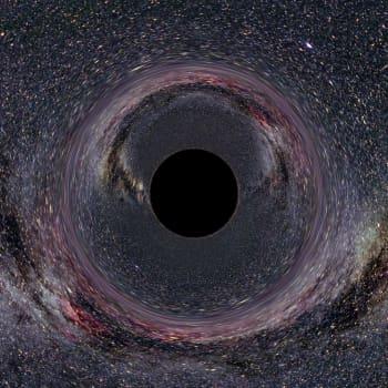 Härifrån till evigheten - se universums slut från ett svart hål