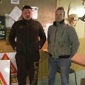 Seitsemän villisian lauma ei päästänyt jahtiporukkaa helpolla Alavieskassa