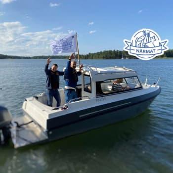 Micke och Mattias är entusiastiska över programmet Närmat i Åboland