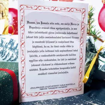 Joulurauhan julistus Turun murteella – kuuntele tämä vaikka joulupöydässä!