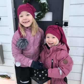 Minttu, 6 ja Maisa, 3 odottavat eniten joulupukkia - mutta miten pukki voi tänä jouluna tulla?