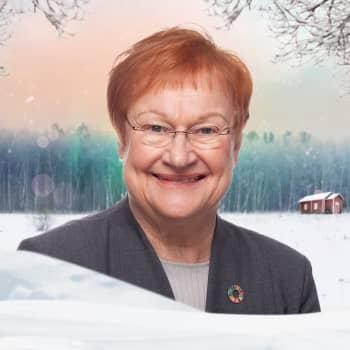 Vegas vinterpratare: President Tarja Halonen