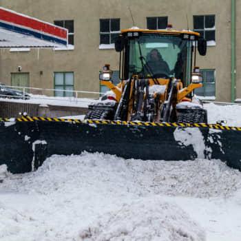 Snöhögar gör det svårt hitta parkering i Borgå