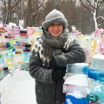 """Silja Lindblad tog initiativet till isslottet på Drumsö: """"Vi har alla varit med om att bygga det"""""""