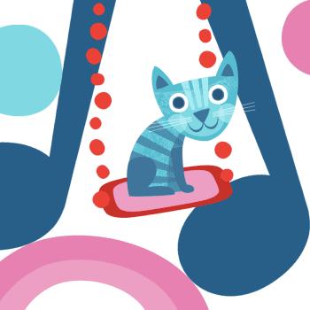 Kissa keikkui keinussa