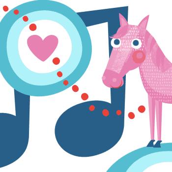 Hevonen se heiniä rouskuttaa