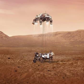 Rymdrovern Perseverance har landat på Mars