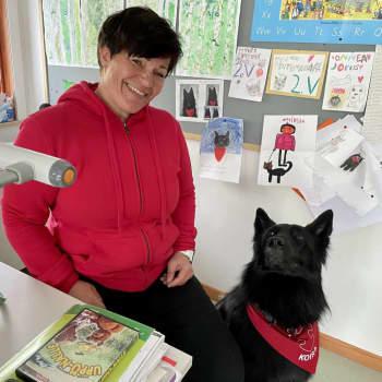 Koulukoira Jokkis tekee työtään olemalla vain koira ja viettää myös lomansa koiran tavoin