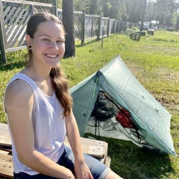 Vilma Helimäen kesäkoti on teltassa ja osoite vaihtelee tarvittaessa päivittäin