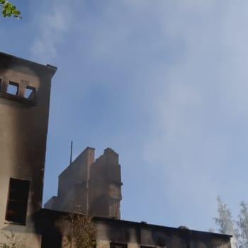 Gammalt slakthus i Bennäs i Pedersöre förstördes i brand